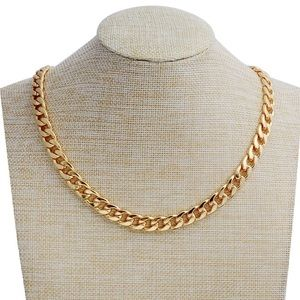 24in 18k Gold Cuban Chain Necklace 10mm Unisex